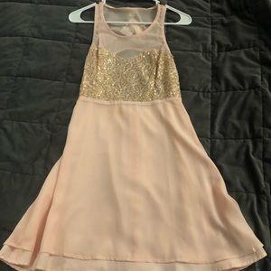 Pink flowy dress